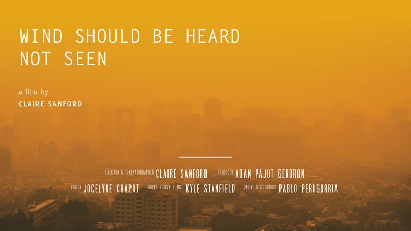 Wind should be heard not seen - Land Film Festival